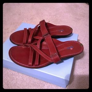 Red Timberland Earth Keepers Sandals